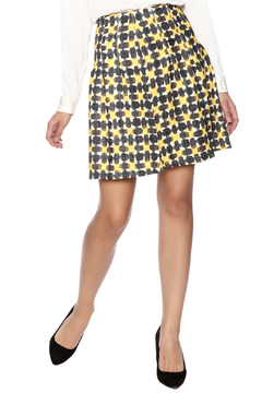 Shoptiques Product: Yellow Print High Waisted Skirt