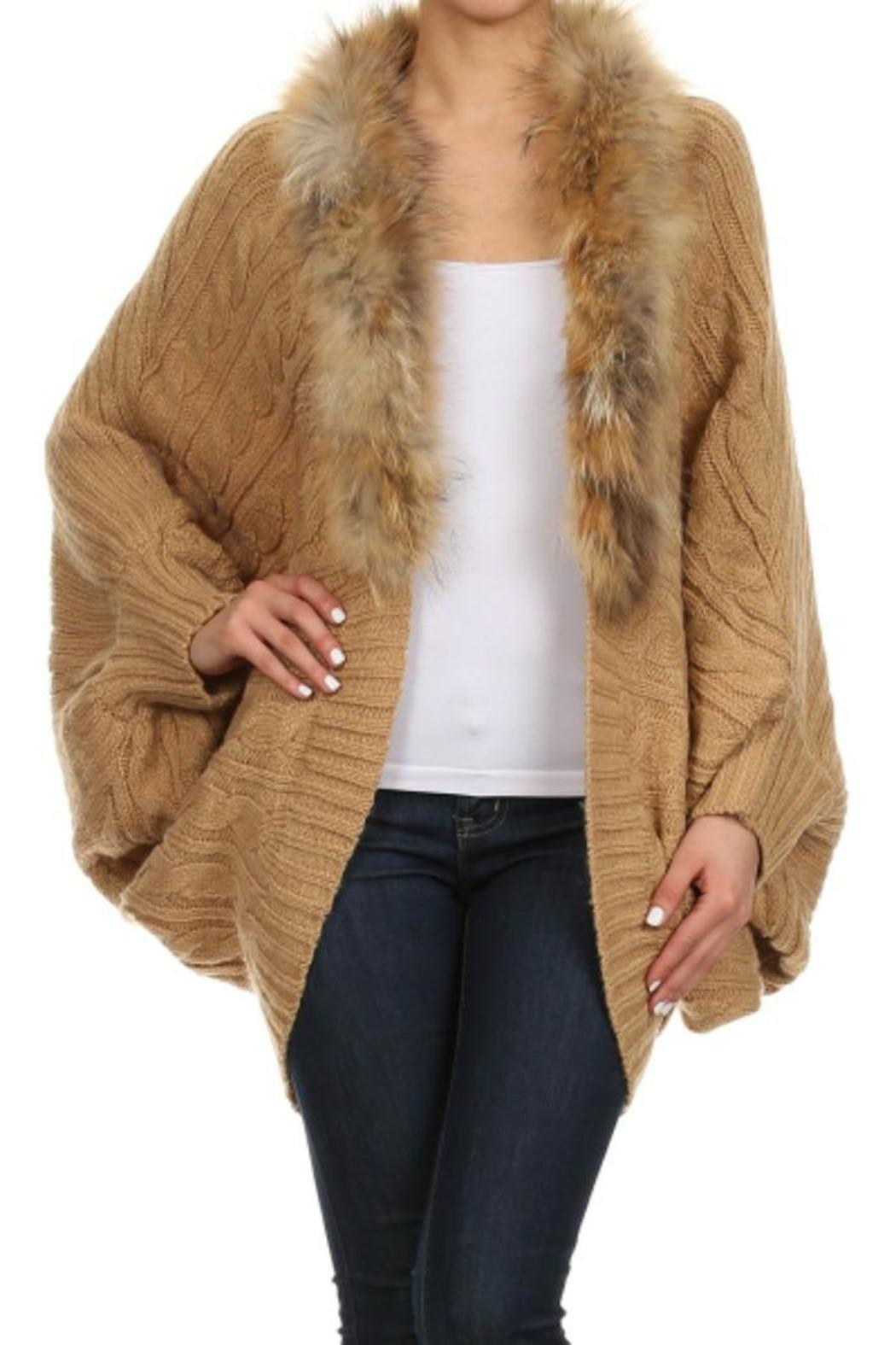 Freeway Apparel Faux Fur Trim Cardigan from North Carolina by ...