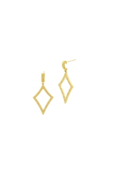 Freida Rothman  Open Diamond Drop Earrings - Alternate List Image