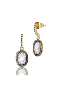 Shoptiques Product: Sparkly Crystal Earrings