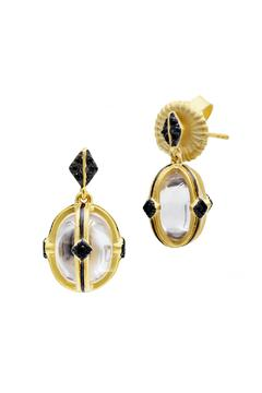 Shoptiques Product: Vermeil Crystal Earrings