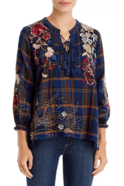 Johnny Was Freja Tassle Blouse - Front cropped