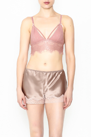 french affair Eyelash Bralette - Front full body