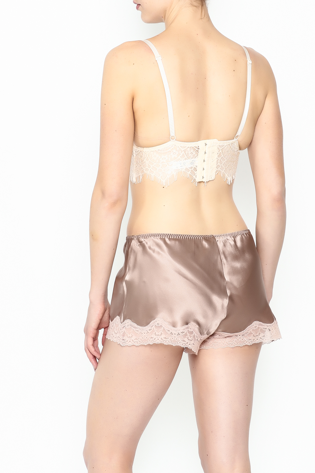 french affair Eyelash Bralette - Back Cropped Image
