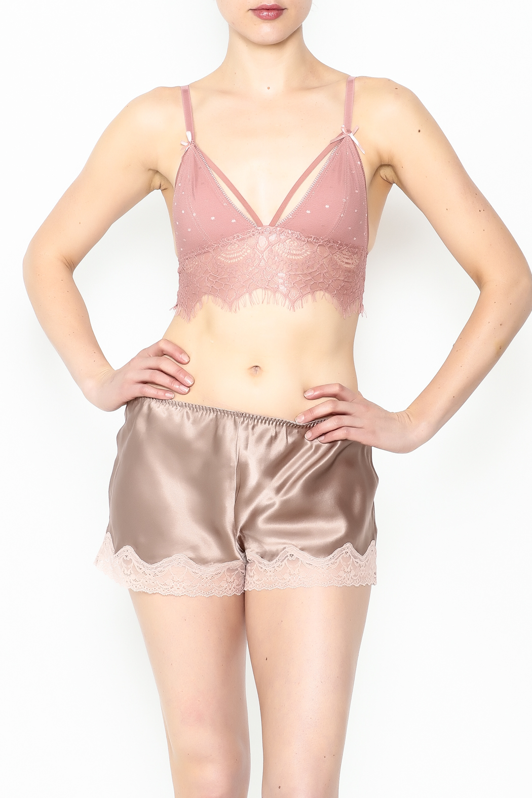 french affair Eyelash Bralette - Front Cropped Image