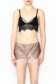 french affair Eyelash Bralette - Front cropped