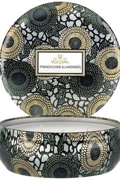 Voluspa French Cade Lavender 3 Wick Candle Tin - Alternate List Image