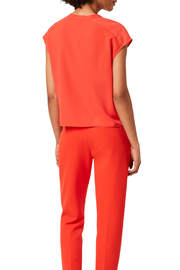 French Connection FRENCH CONNECTION CREPE RUFFLE TOP - Back cropped