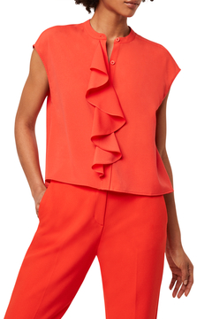 French Connection FRENCH CONNECTION CREPE RUFFLE TOP - Product List Image