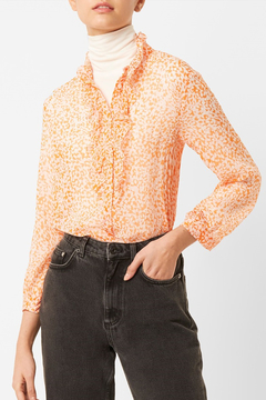 French Connection FRENCH CONNECTION RUFFLE BLOUSE - Product List Image
