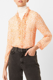 French Connection FRENCH CONNECTION RUFFLE BLOUSE - Front cropped