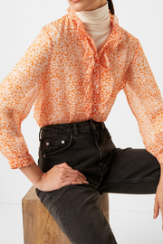 French Connection FRENCH CONNECTION RUFFLE BLOUSE - Side cropped