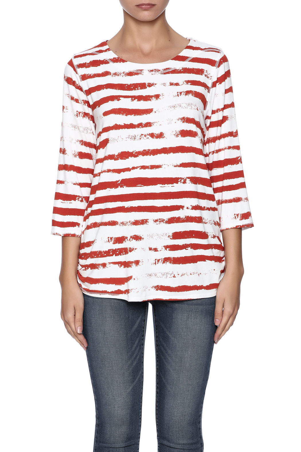 French Dressing Jeans Cloud Stripe Top - Side Cropped Image