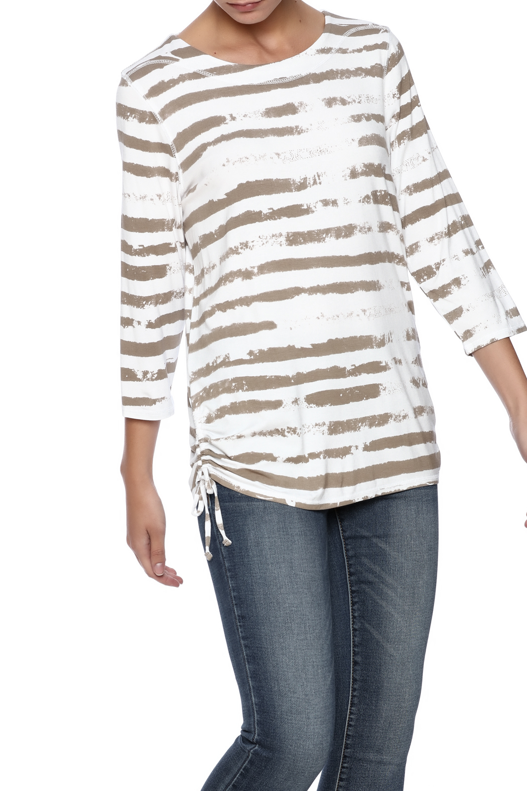French Dressing Jeans Cloud Stripe Top - Front Cropped Image