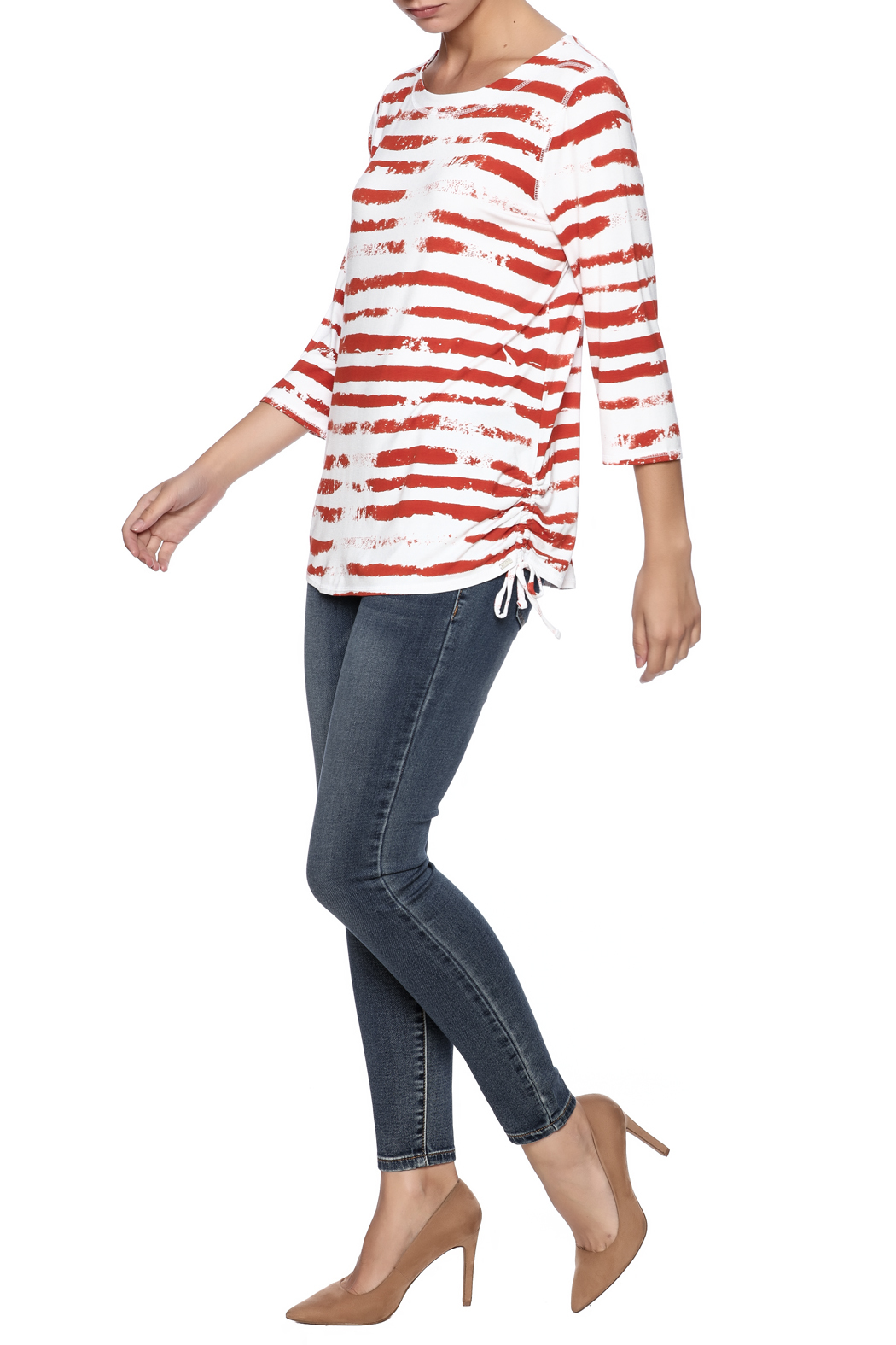 French Dressing Jeans Cloud Stripe Top - Front Full Image