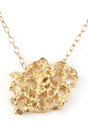 Jessica Ricci Jewelry French Lace Pendant - Front cropped