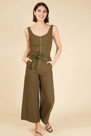 French Magaly Green Jumpsuit - Product Mini Image