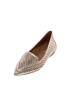French Sole FS/NY Gold Perforated Flats - Alternate List Image