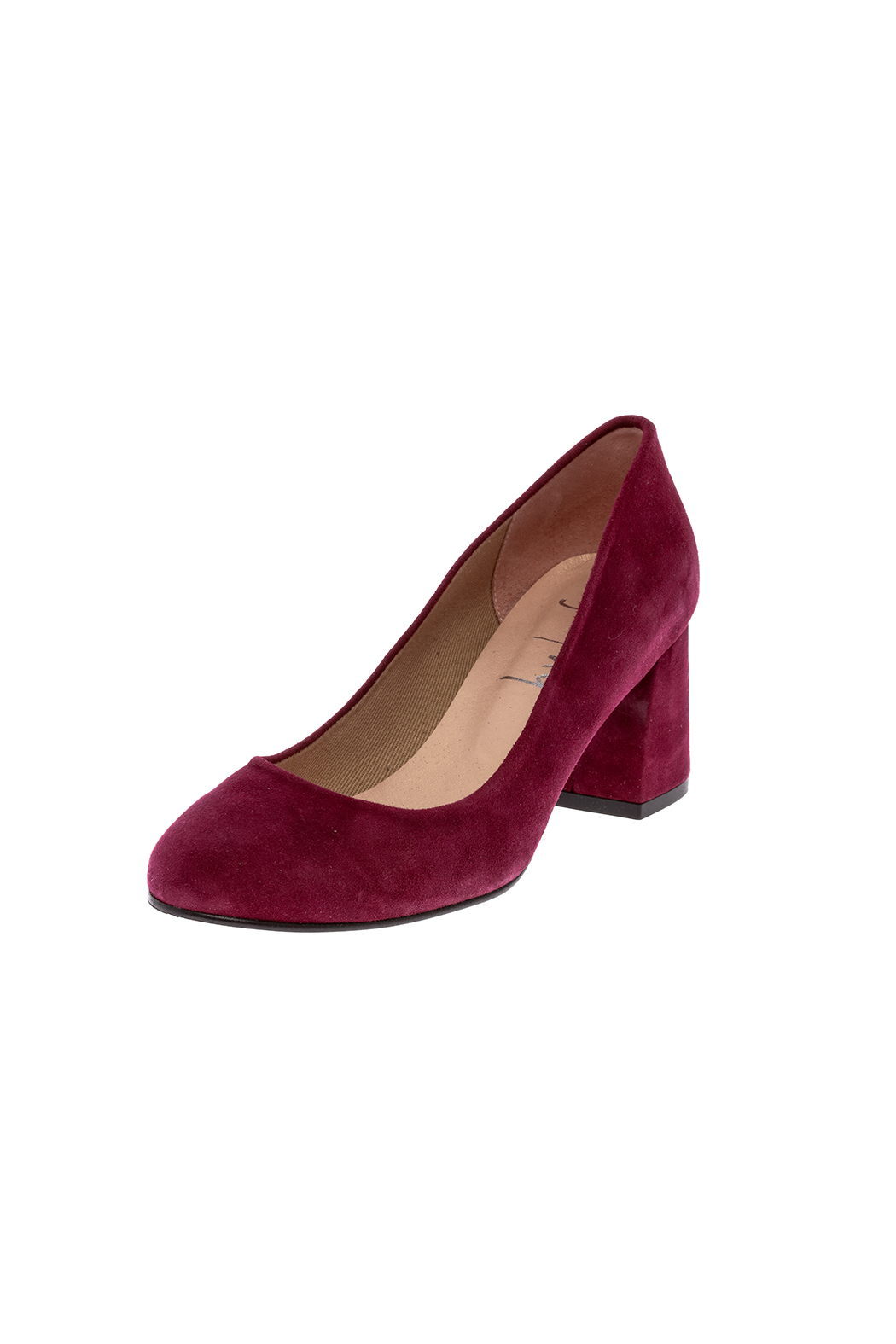 French Sole Trance Suede Pump - Back Cropped Image