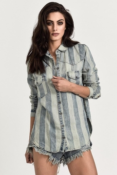 One Teaspoon French Stripe Shirt - Product List Image