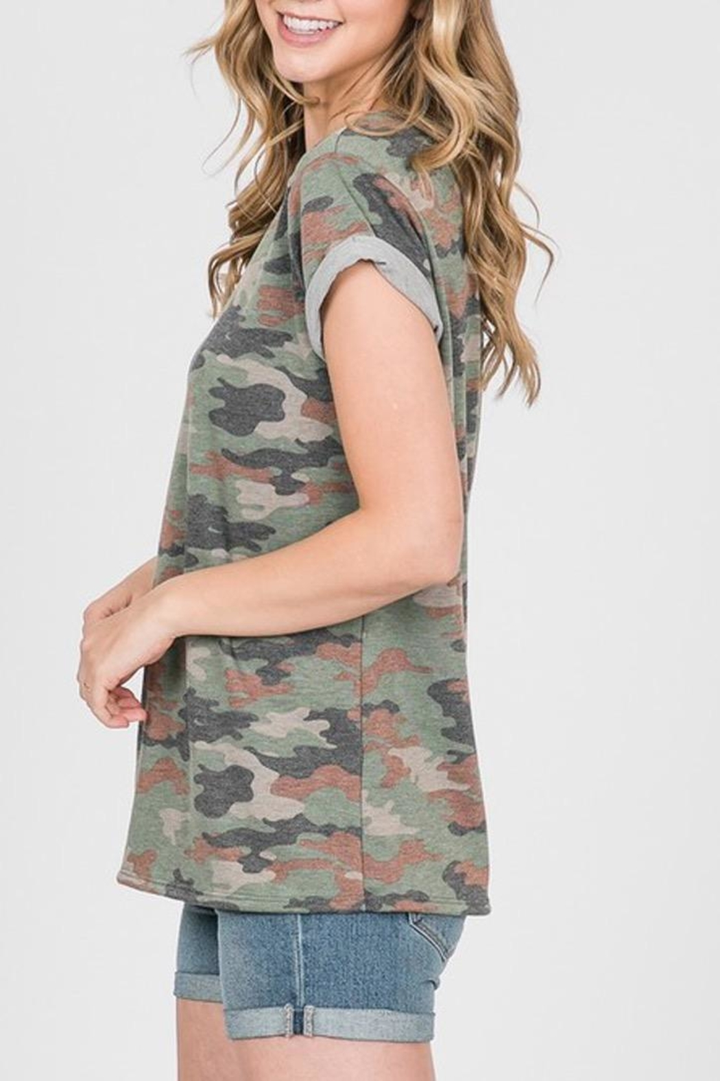 Ces Femme French-Terry Camouflage Shirt - Side Cropped Image