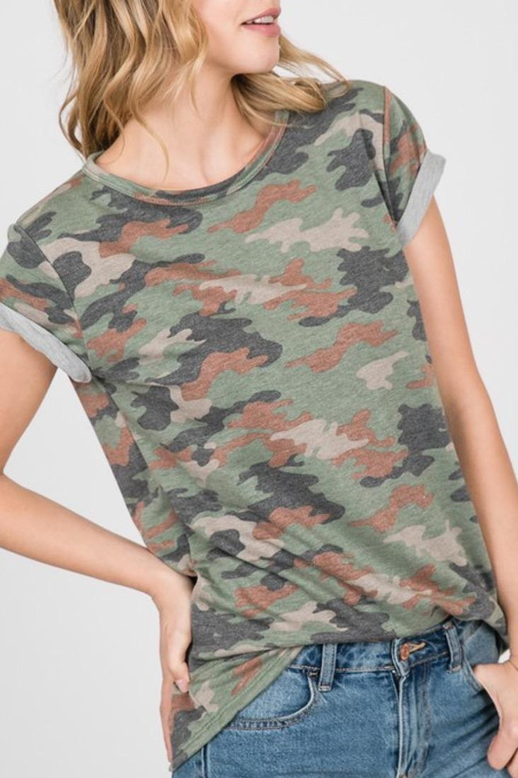 Ces Femme French-Terry Camouflage Shirt - Front Full Image
