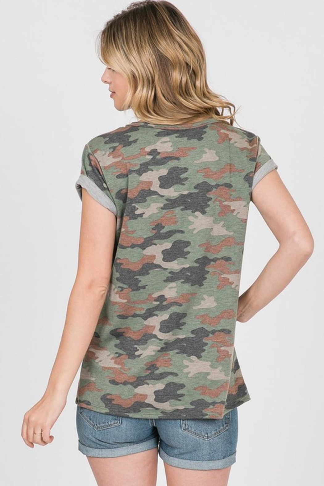 Ces Femme French-Terry Camouflage Shirt - Back Cropped Image