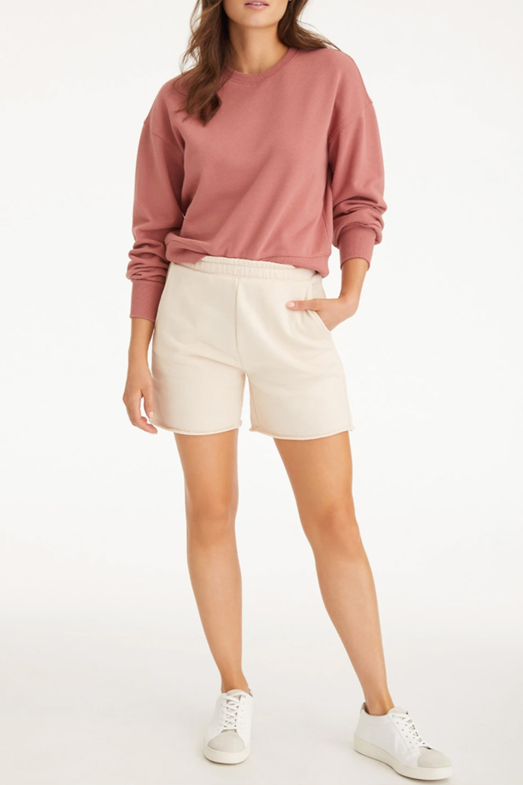 525 America French Terry Crew Sweatshirt - Side Cropped Image