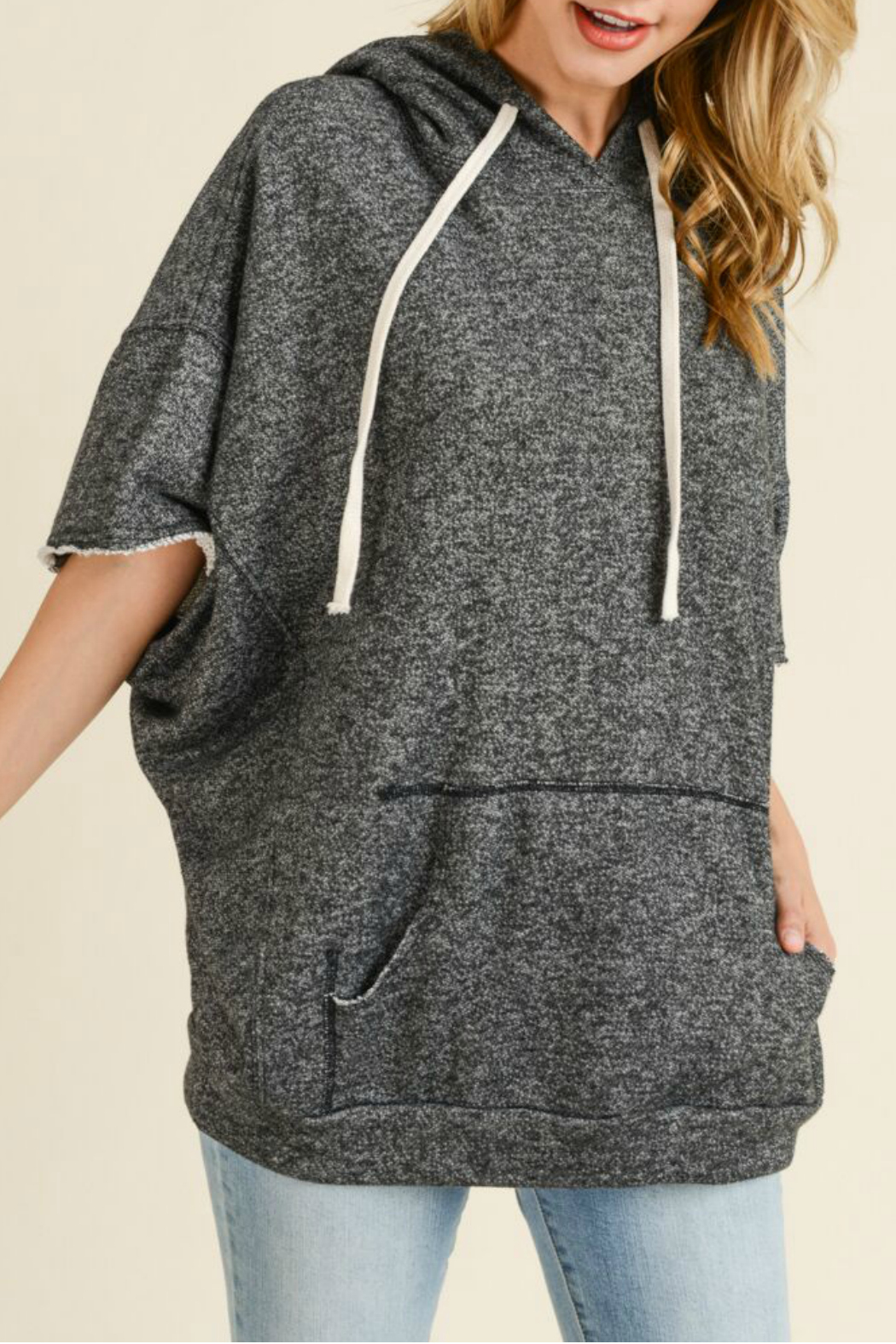 Maple Sage French terry dolman sleeve hoodie - Main Image