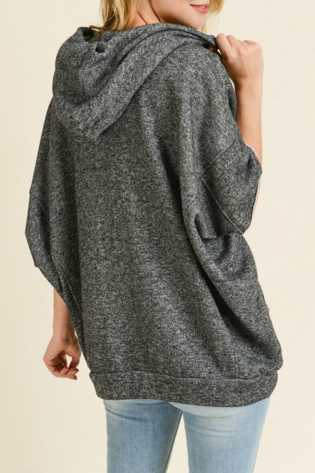 Maple Sage French terry dolman sleeve hoodie - Side Cropped Image
