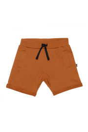 Deux Par Deux French Terry Drawstring Shorts - Cathay Spice - Product Mini Image