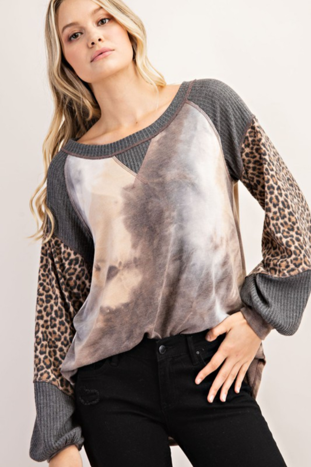 FSL Apparel French Terry Fashion Top - Main Image