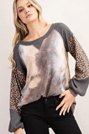 FSL Apparel French Terry Fashion Top - Front cropped