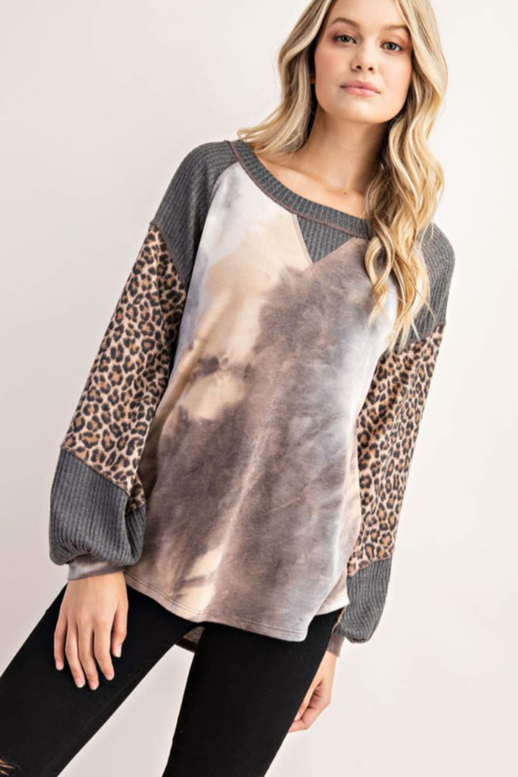 FSL Apparel French Terry Fashion Top - Front Full Image