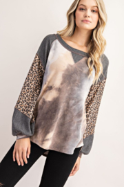 FSL Apparel French Terry Fashion Top - Front full body