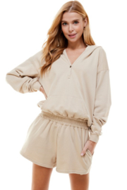 TCEC French Terry Hoodie Romper - Product Mini Image