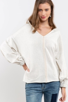 Shoptiques Product: French Terry Hoodie Sweatshirt