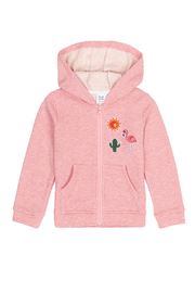 Deux Par Duex French Terry Hoodie With Summer Patches - Product Mini Image