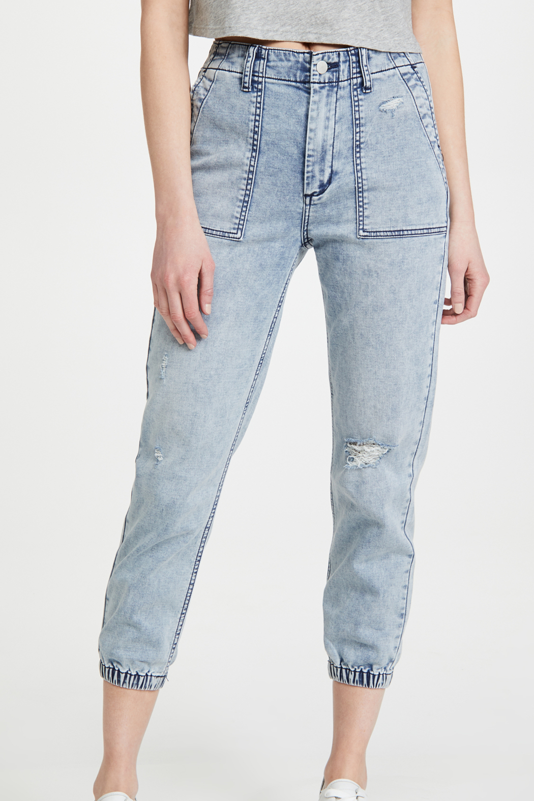 Joe's Jeans French Terry Jogger Iris - Front Cropped Image
