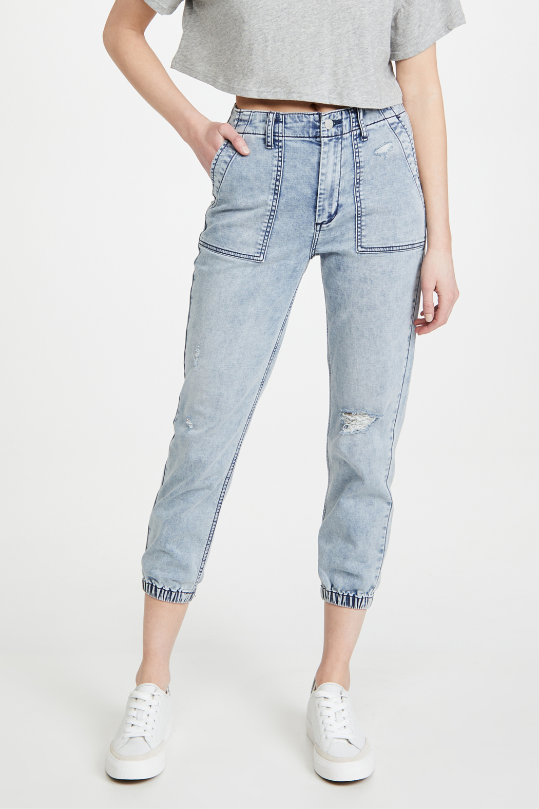 Joe's Jeans French Terry Jogger Iris - Back Cropped Image