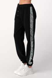 Dance and Marvel French Terry Joggers with Snake Skin Stripe - Product Mini Image