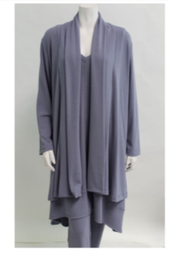 Nally & Millie French Terry Open Cardigan - Alternate List Image