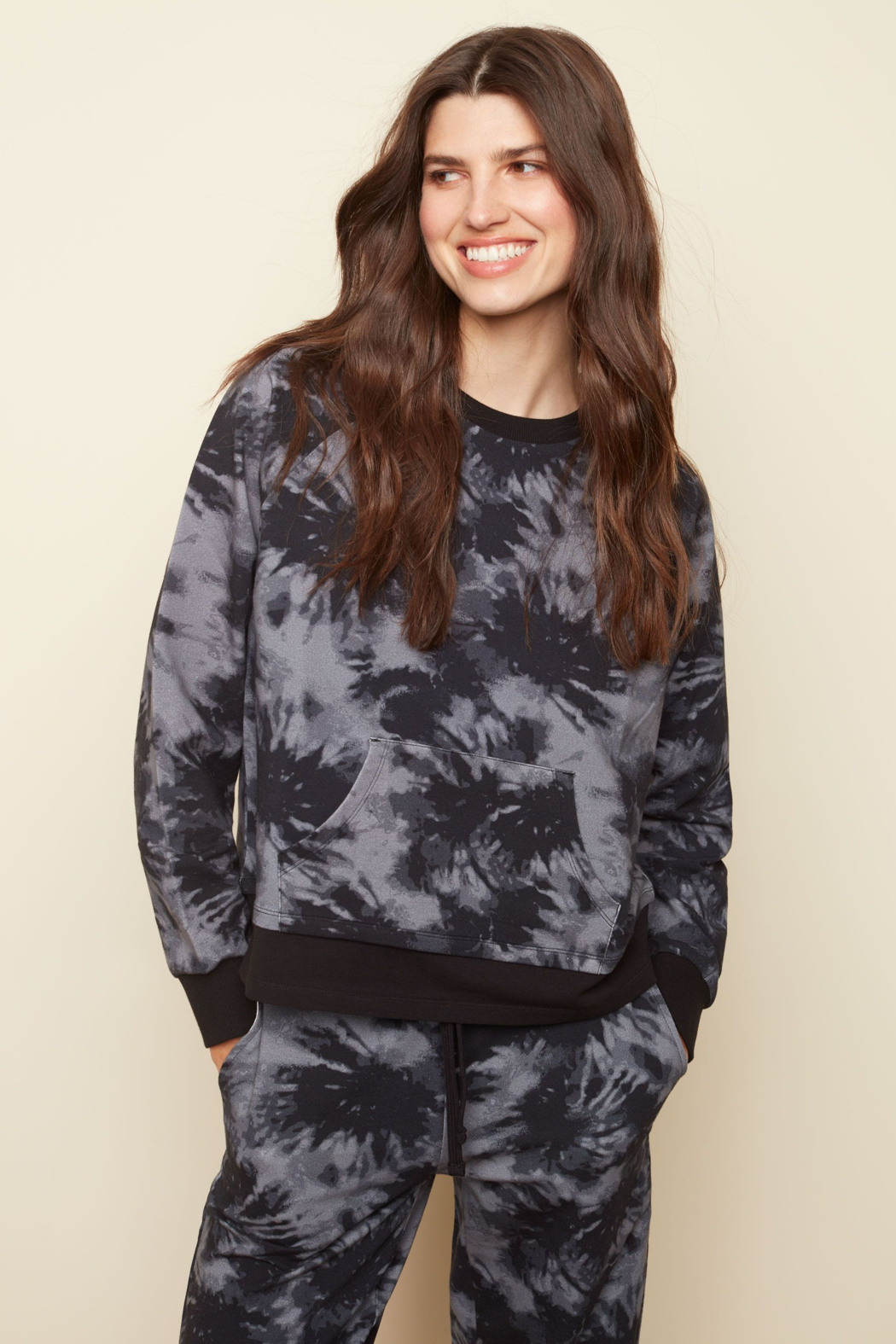 Charlie B. French Terry Printed Top - Front Full Image