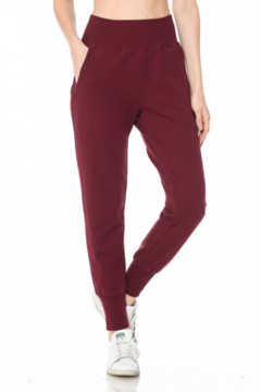 Ambiance French Terry Pull-on High Waist Joggers - Product List Image