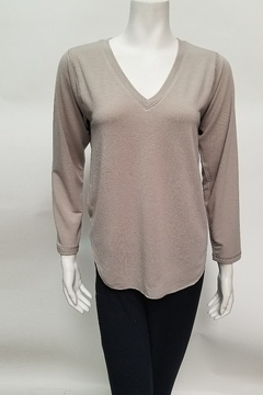 Nally & Millie French terry rounded hem top - Alternate List Image