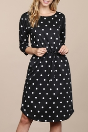 Riah Fashion French-Terry-Self-Tie Polka-Dot Dress - Product Mini Image
