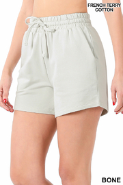 Lyn -Maree's French Terry Shorts - Product Mini Image