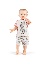 Paper Wings French Terry Shorts - Front full body