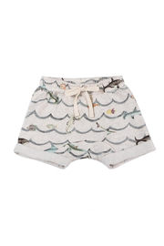 Paper Wings French Terry Shorts - Front cropped