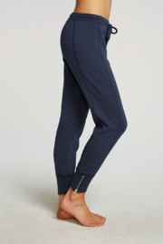 Chaser French Terry Side Zip Joggers - Front full body